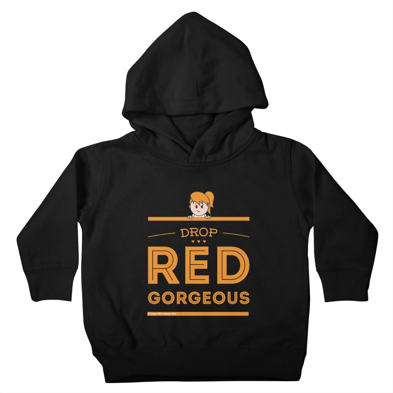 Drop Red Gorgeous Kids Toddler Pullover Hoody by Ginger With Attitude's Artist Shop