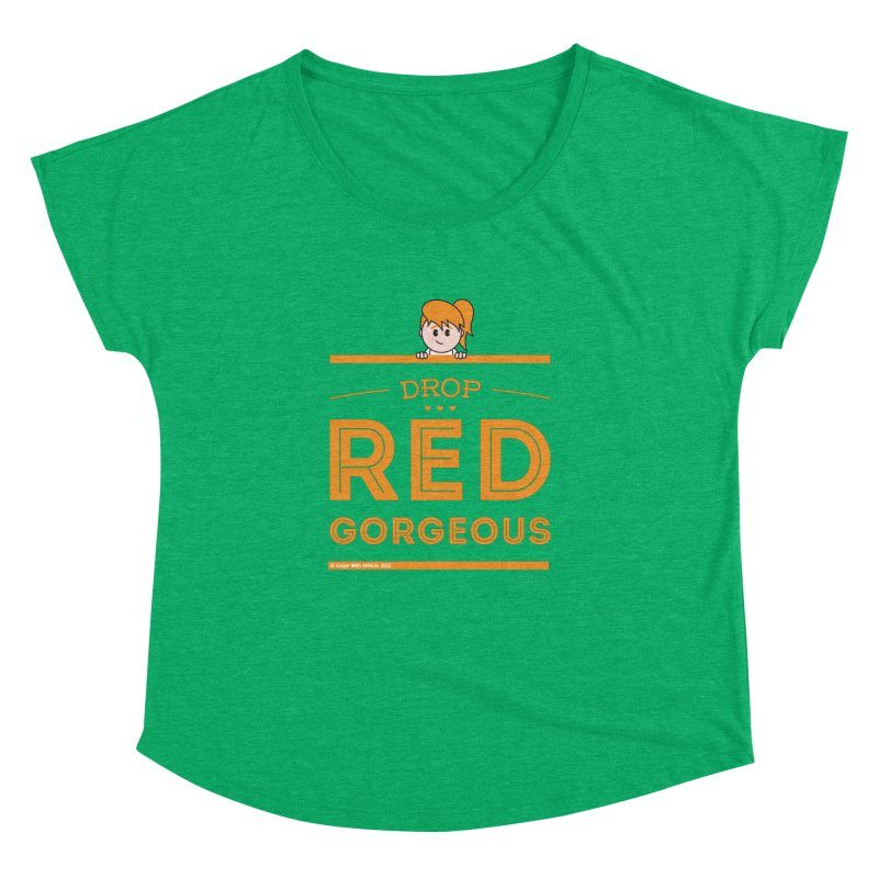 Drop Red Gorgeous Women's Dolman Scoop Neck by Ginger With Attitude's Artist Shop
