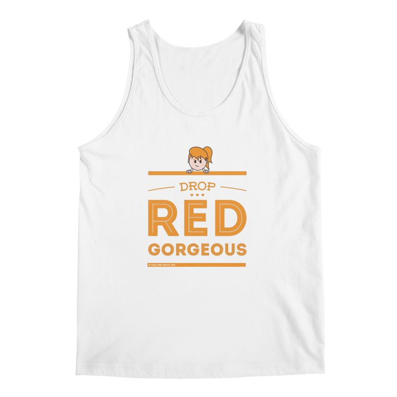 Drop Red Gorgeous Men's Regular Tank by Ginger With Attitude's Artist Shop