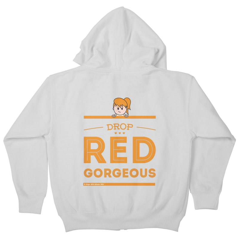 Drop Red Gorgeous Kids Zip-Up Hoody by Ginger With Attitude's Artist Shop