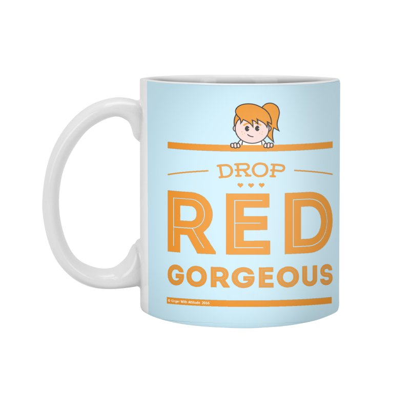 Drop Red Gorgeous Accessories Standard Mug by Ginger With Attitude's Artist Shop