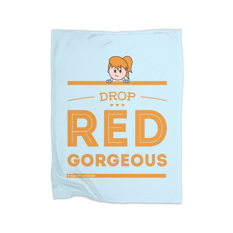 Drop Red Gorgeous Home Fleece Blanket Blanket by Ginger With Attitude's Artist Shop