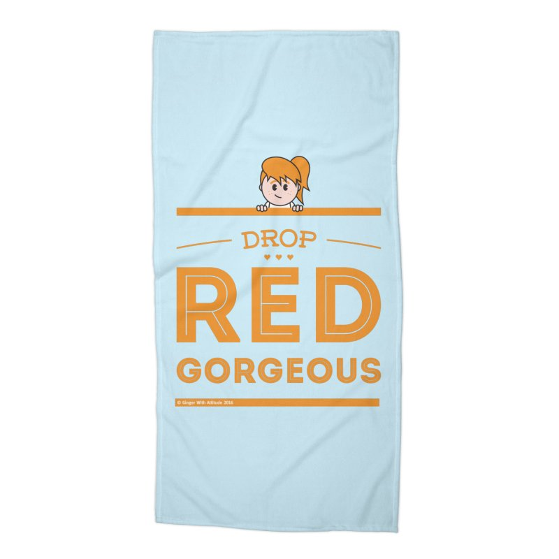 Drop Red Gorgeous Accessories Beach Towel by Ginger With Attitude's Artist Shop