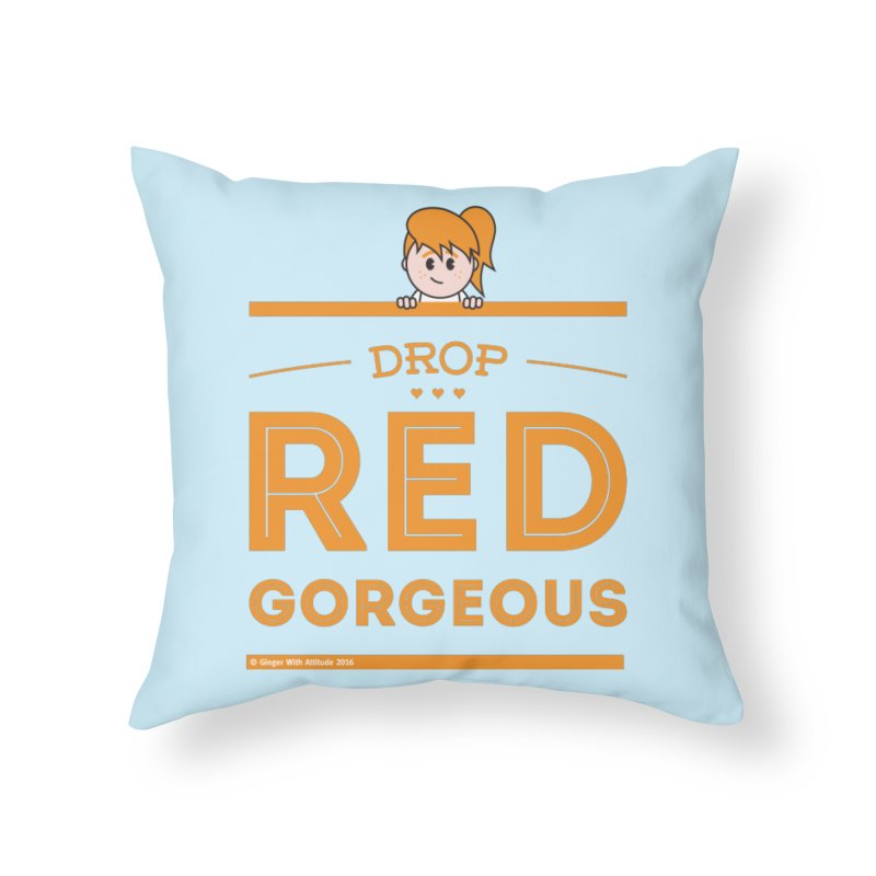 Drop Red Gorgeous Home Throw Pillow by Ginger With Attitude's Artist Shop