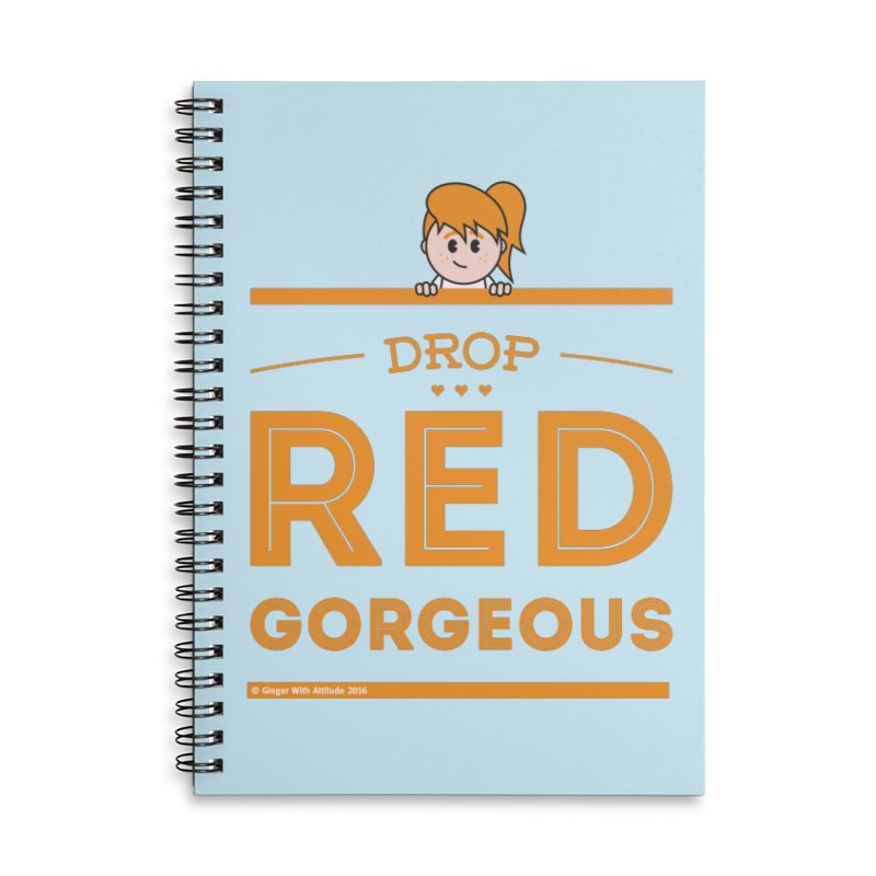 Drop Red Gorgeous Accessories Lined Spiral Notebook by Ginger With Attitude's Artist Shop