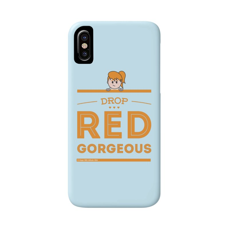 Drop Red Gorgeous Accessories Phone Case by Ginger With Attitude's Artist Shop