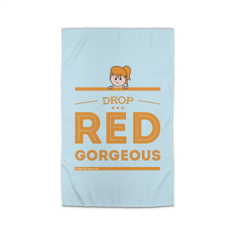 Drop Red Gorgeous Home Rug by Ginger With Attitude's Artist Shop