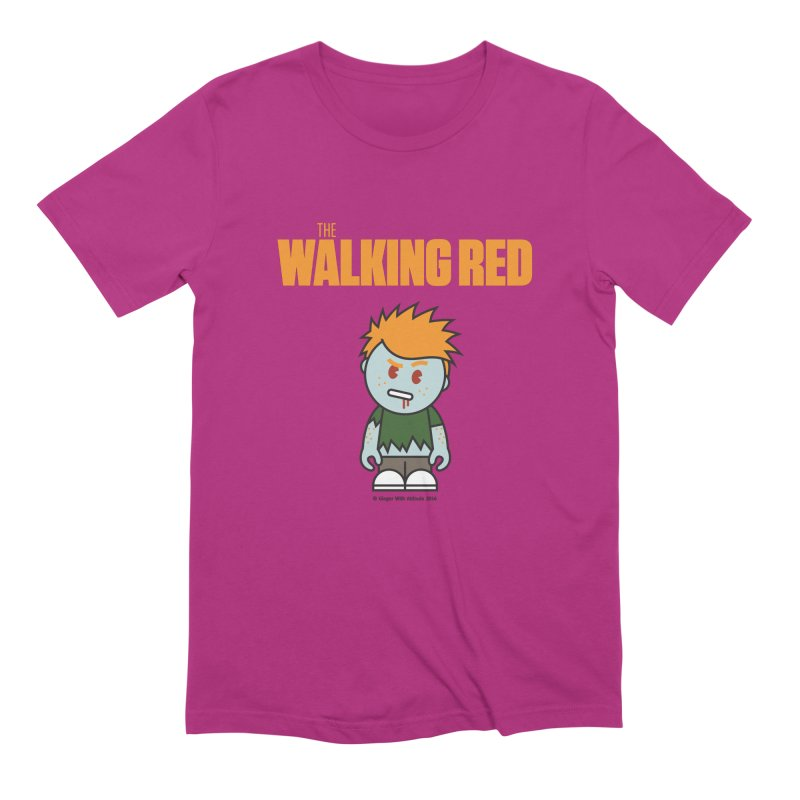 The Walking Red - Guy Men's Extra Soft T-Shirt by Ginger With Attitude's Artist Shop