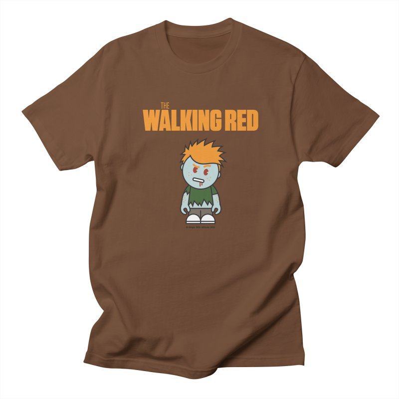 The Walking Red - Guy Men's T-Shirt by Ginger With Attitude's Artist Shop