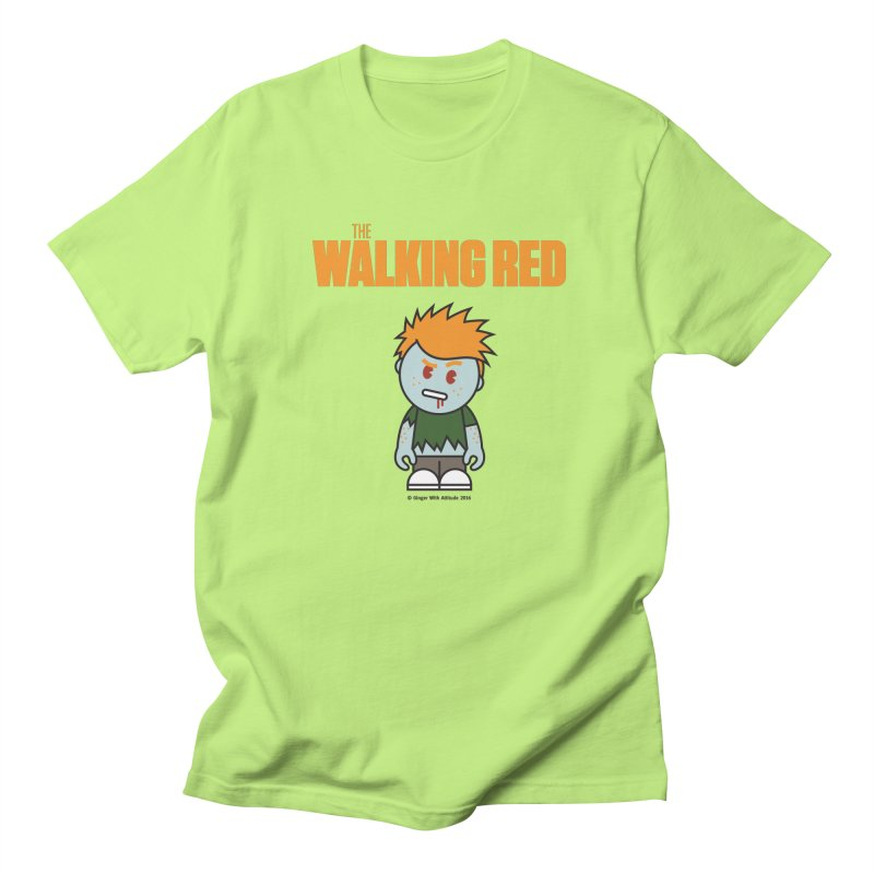 The Walking Red - Guy Men's Regular T-Shirt by Ginger With Attitude's Artist Shop