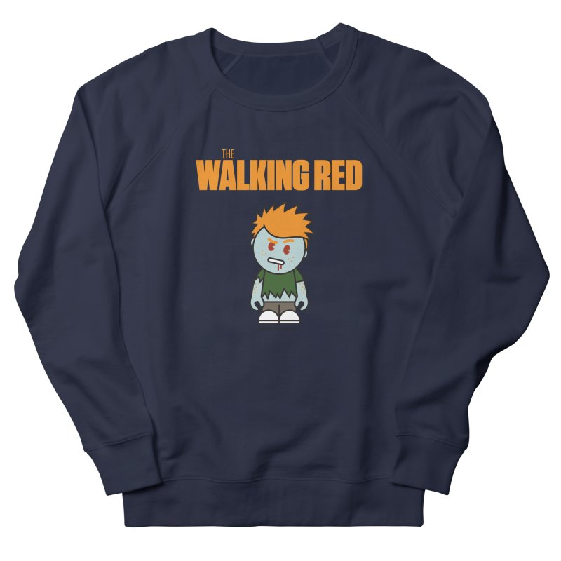 The Walking Red - Guy Women's French Terry Sweatshirt by Ginger With Attitude's Artist Shop