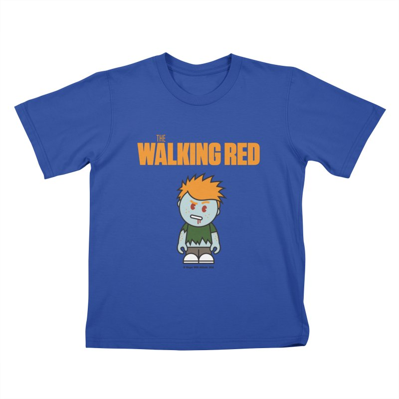 The Walking Red - Guy Kids T-Shirt by Ginger With Attitude's Artist Shop