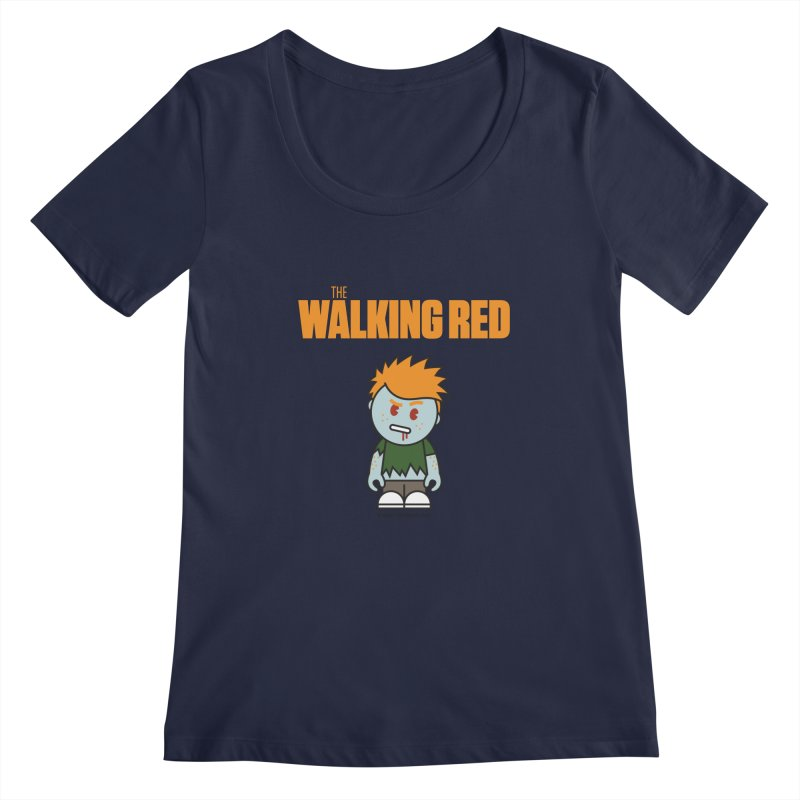 The Walking Red - Guy Women's Regular Scoop Neck by Ginger With Attitude's Artist Shop