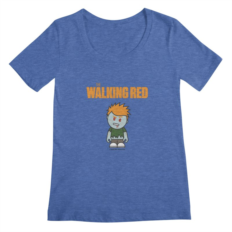 The Walking Red - Guy Women's Scoopneck by Ginger With Attitude's Artist Shop