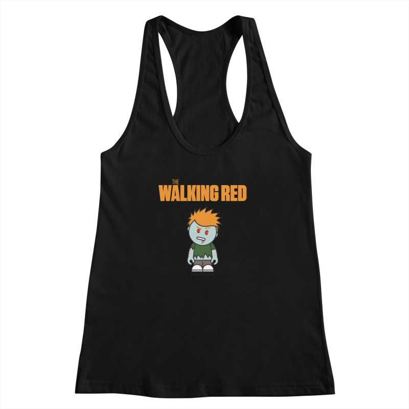 The Walking Red - Guy Women's Racerback Tank by Ginger With Attitude's Artist Shop