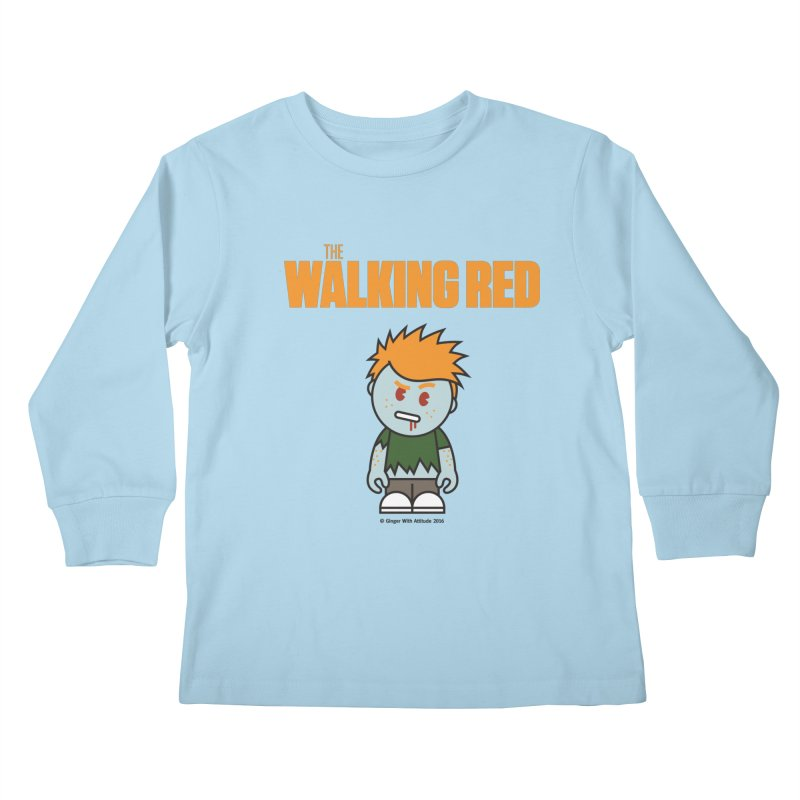 The Walking Red - Guy Kids Longsleeve T-Shirt by Ginger With Attitude's Artist Shop