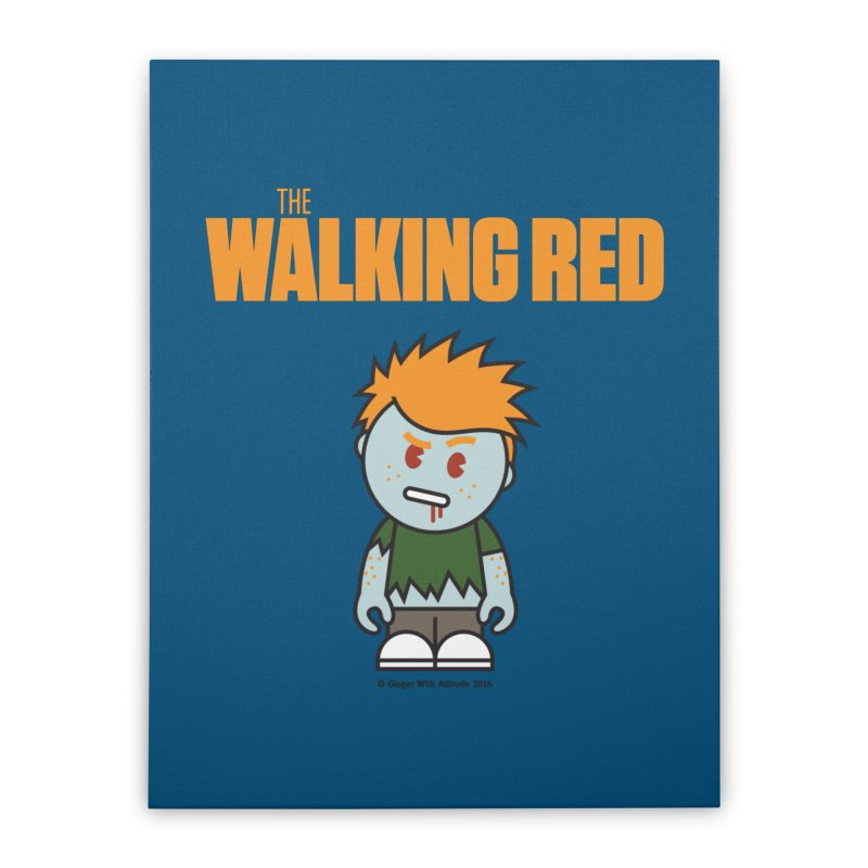 The Walking Red - Guy Home Stretched Canvas by Ginger With Attitude's Artist Shop