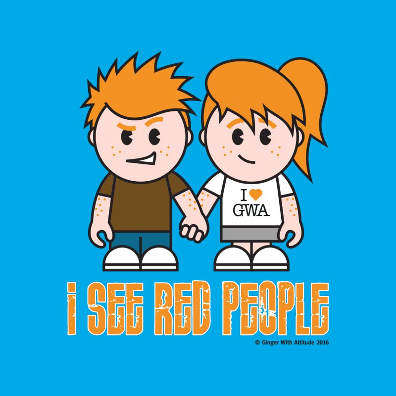 I See Red People Men's T-Shirt by Ginger With Attitude's Artist Shop