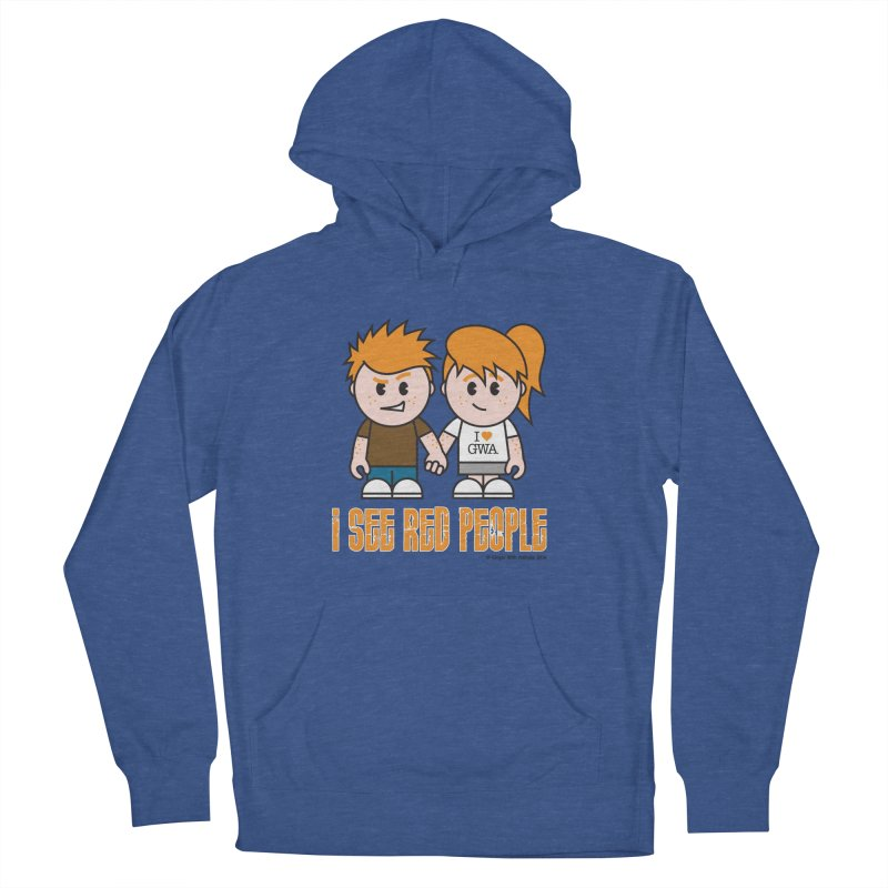 I See Red People Women's French Terry Pullover Hoody by Ginger With Attitude's Artist Shop