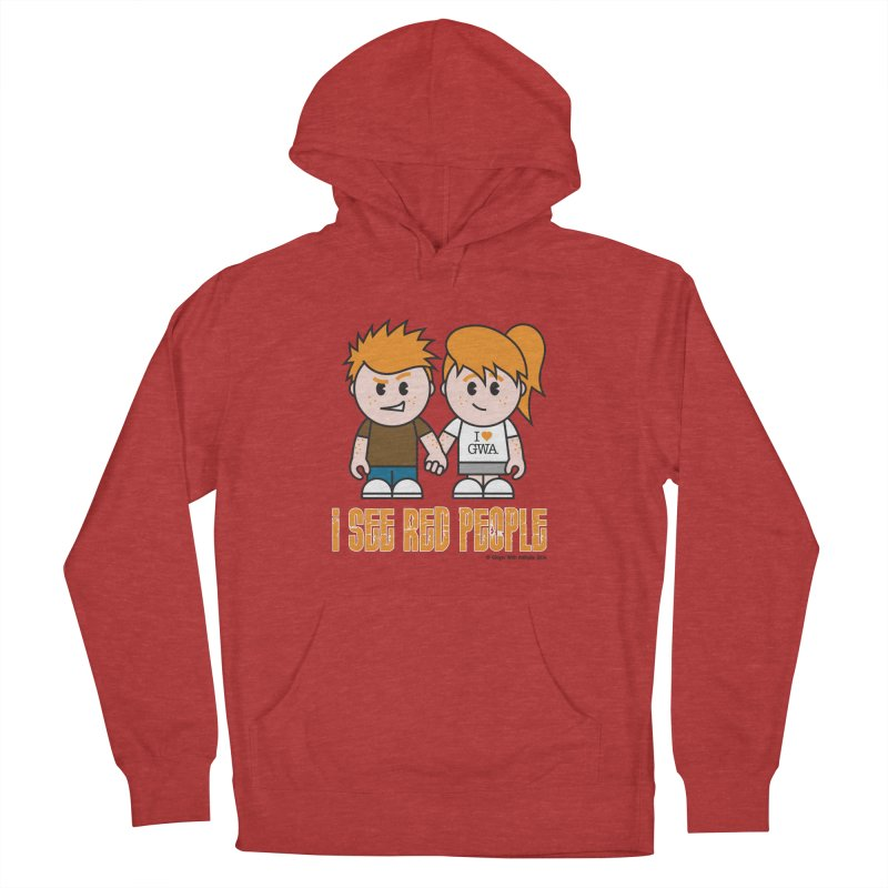 I See Red People Men's Pullover Hoody by Ginger With Attitude's Artist Shop