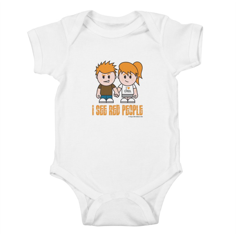 I See Red People Kids Baby Bodysuit by Ginger With Attitude's Artist Shop