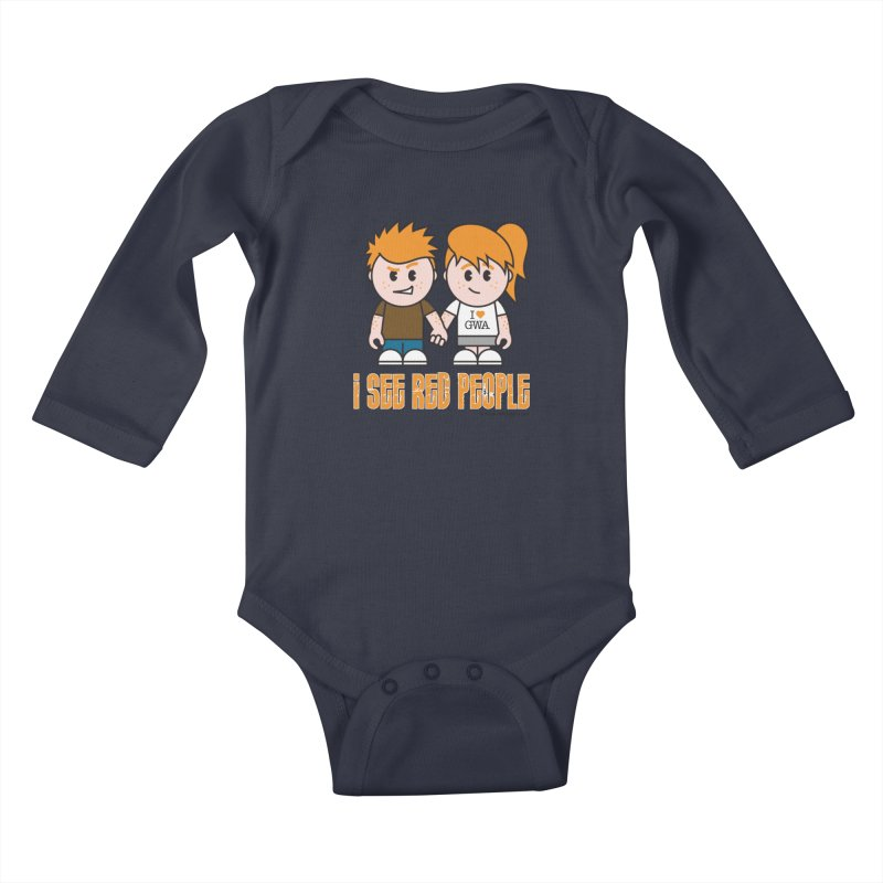 I See Red People Kids Baby Longsleeve Bodysuit by Ginger With Attitude's Artist Shop