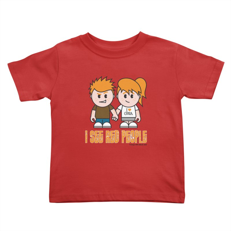 I See Red People Kids Toddler T-Shirt by Ginger With Attitude's Artist Shop