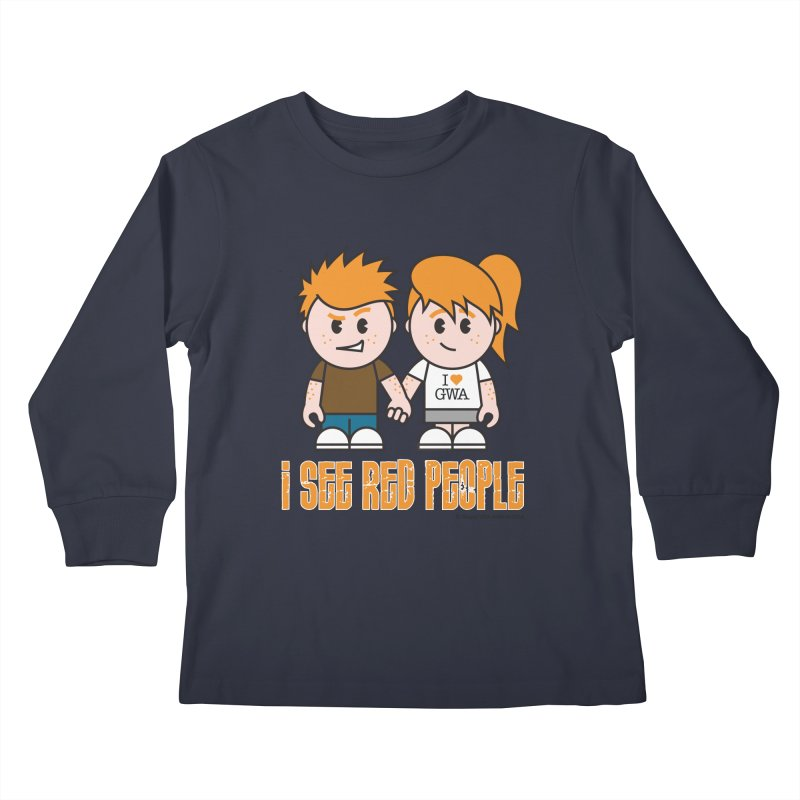 I See Red People Kids Longsleeve T-Shirt by Ginger With Attitude's Artist Shop