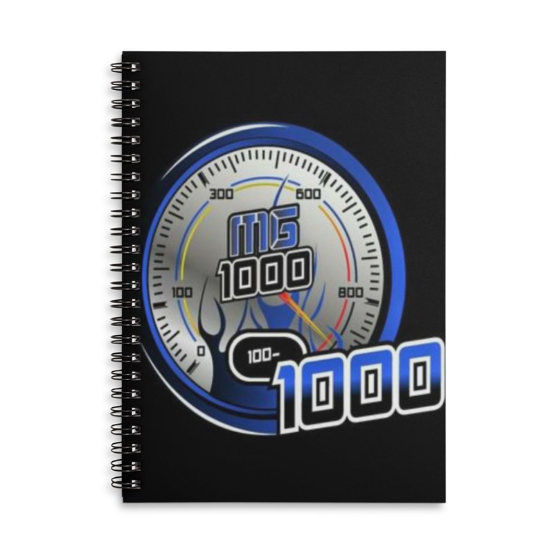 Logo Accessories Lined Spiral Notebook by Ginotopia