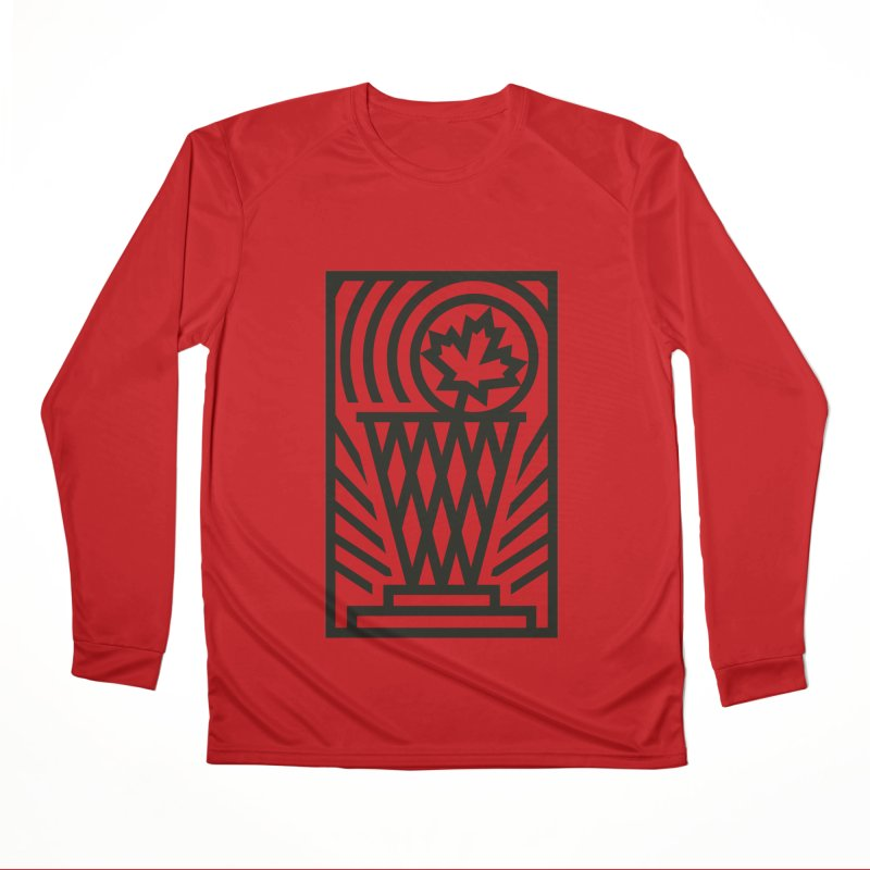 The Larry O'Canuck Men's Performance Longsleeve T-Shirt by Gintron