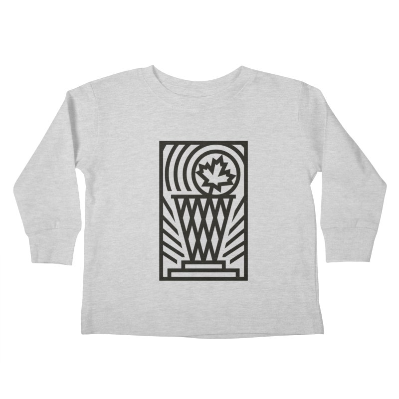 The Larry O'Canuck Kids Toddler Longsleeve T-Shirt by Gintron