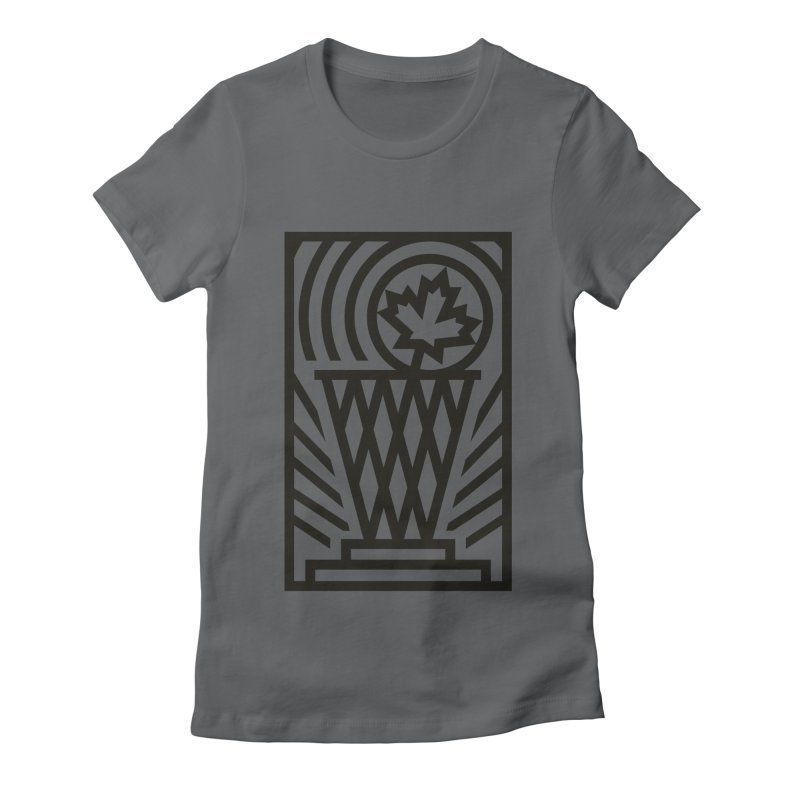 The Larry O'Canuck Women's Fitted T-Shirt by Gintron