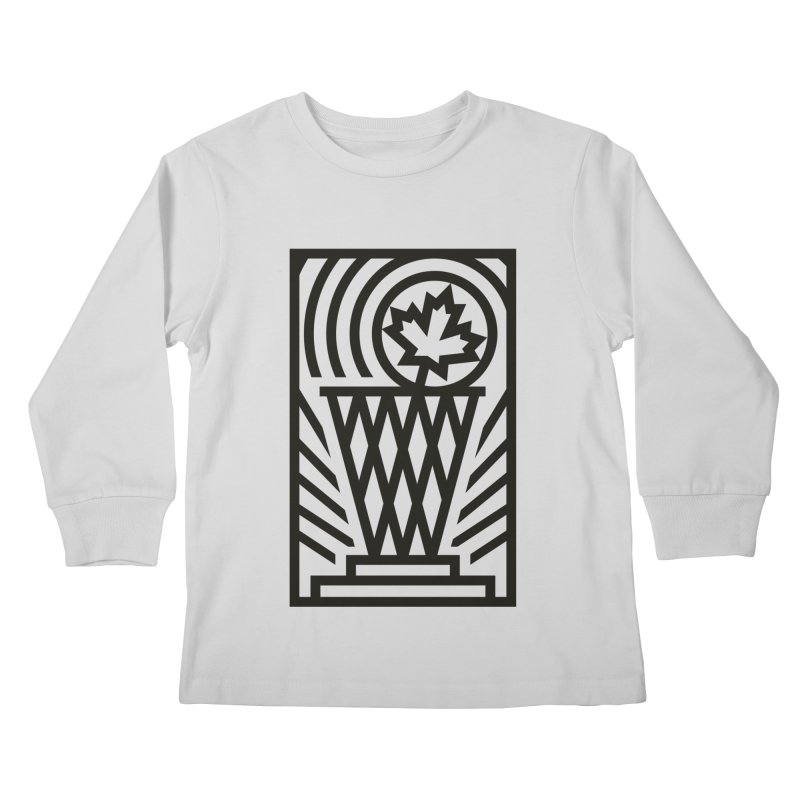 The Larry O'Canuck Kids Longsleeve T-Shirt by Gintron