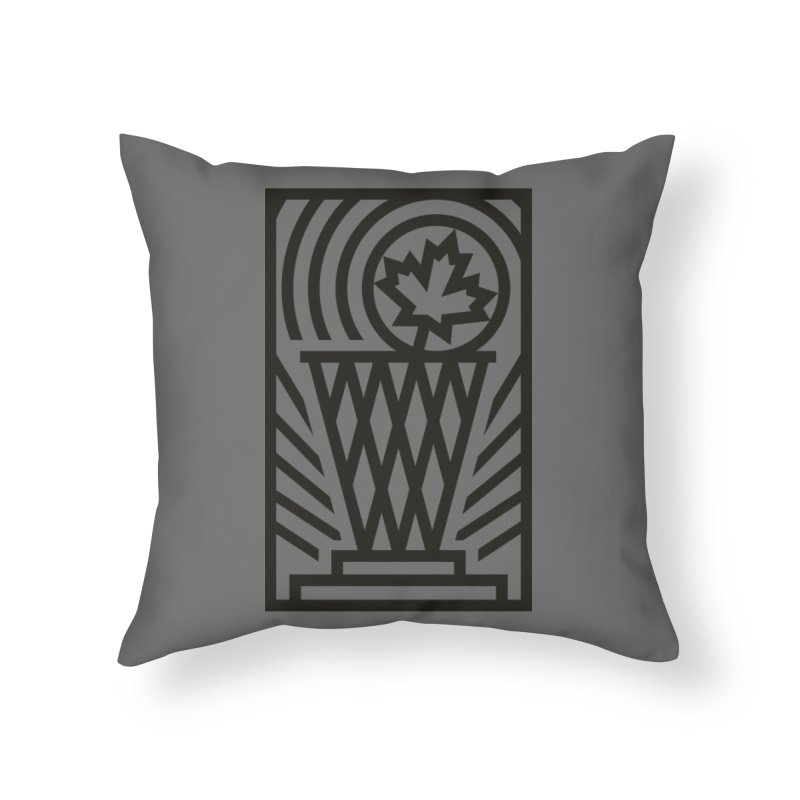 The Larry O'Canuck Home Throw Pillow by Gintron