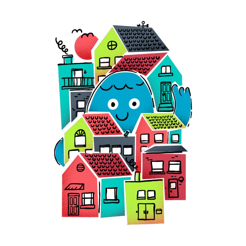 Hello Good Neighbour Accessories Zip Pouch by Gintron