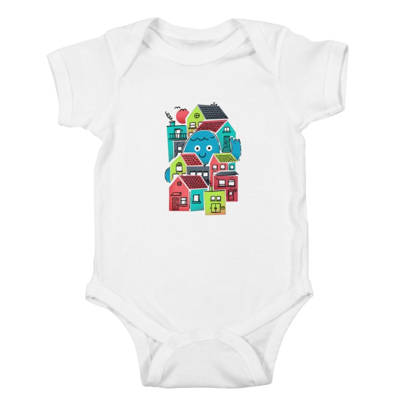 Hello Good Neighbour Kids Baby Bodysuit by Gintron