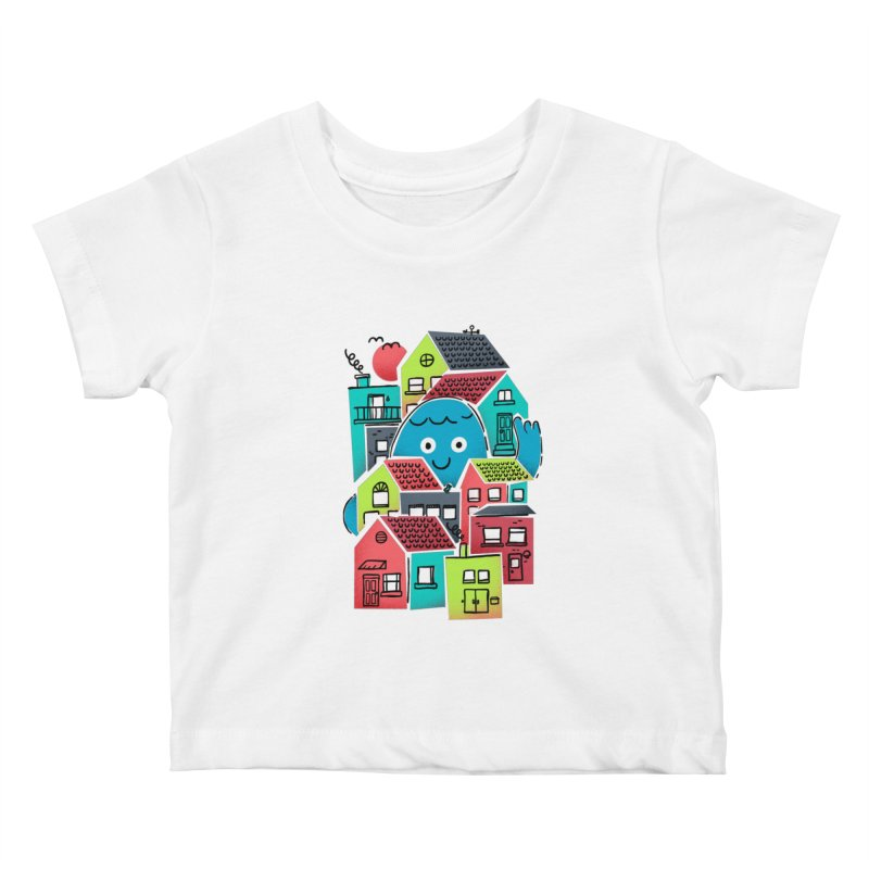 Hello Good Neighbour Kids Baby T-Shirt by Gintron