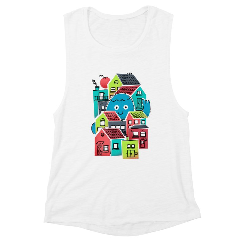 Hello Good Neighbour Women's Tank by Gintron