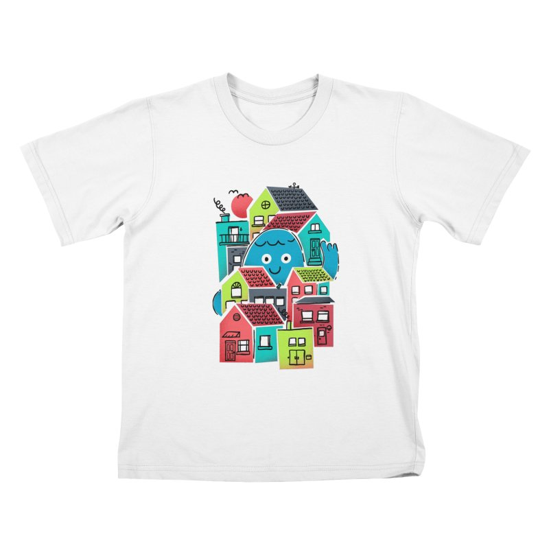 Hello Good Neighbour Kids T-Shirt by Gintron