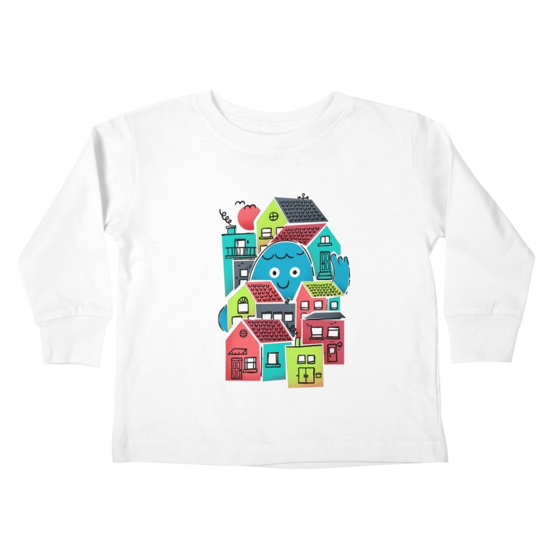 Hello Good Neighbour Kids Toddler Longsleeve T-Shirt by Gintron