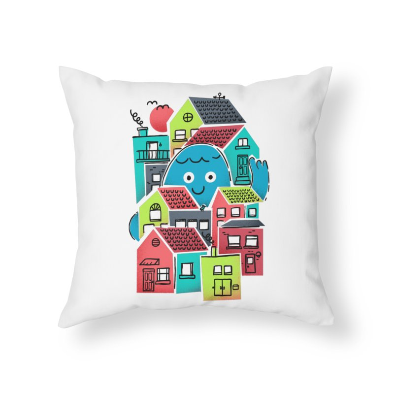Hello Good Neighbour Home Throw Pillow by Gintron