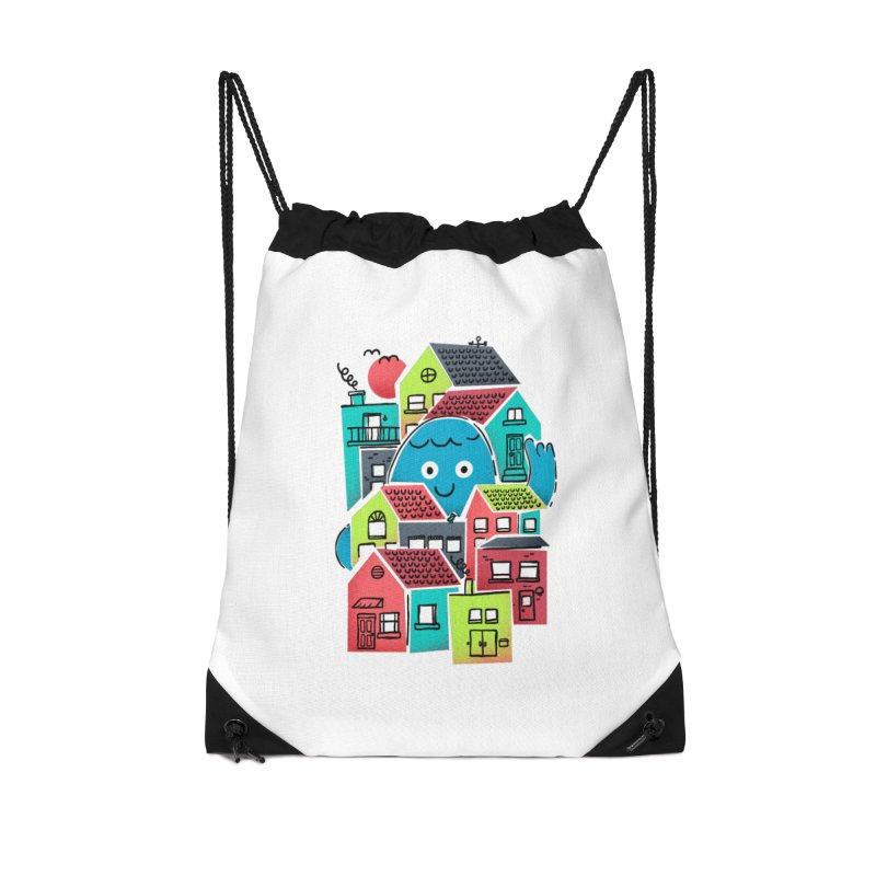 Hello Good Neighbour Accessories Drawstring Bag Bag by Gintron
