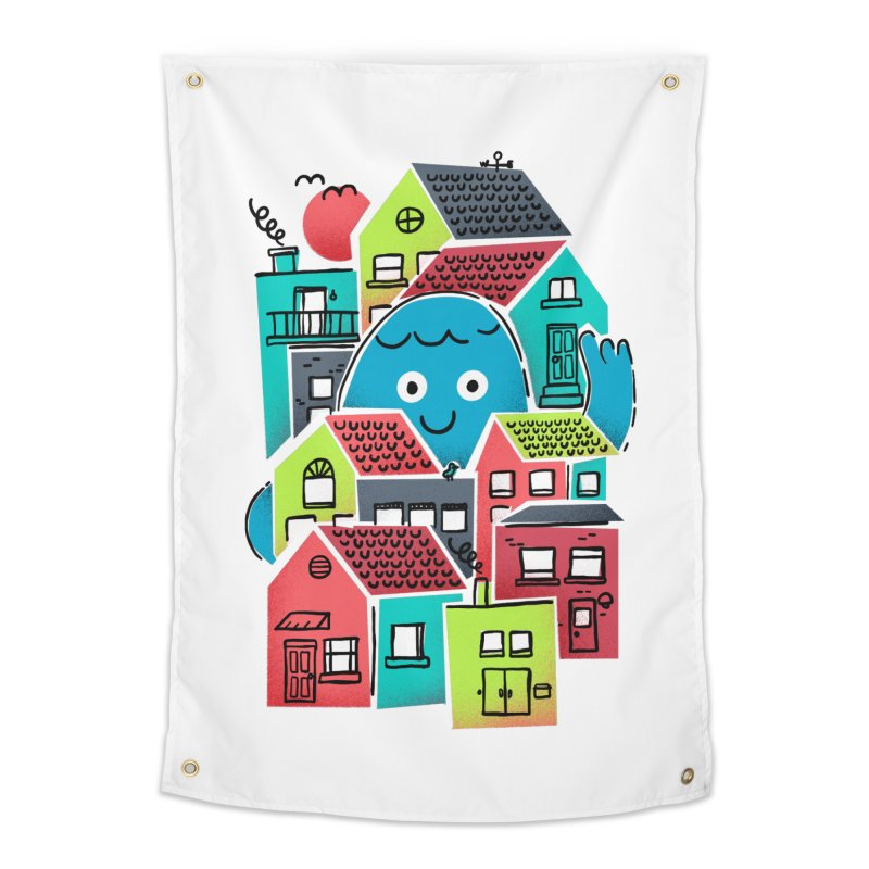 Hello Good Neighbour Home Tapestry by Gintron