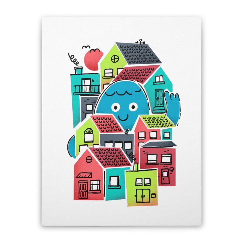 Hello Good Neighbour Home Stretched Canvas by Gintron
