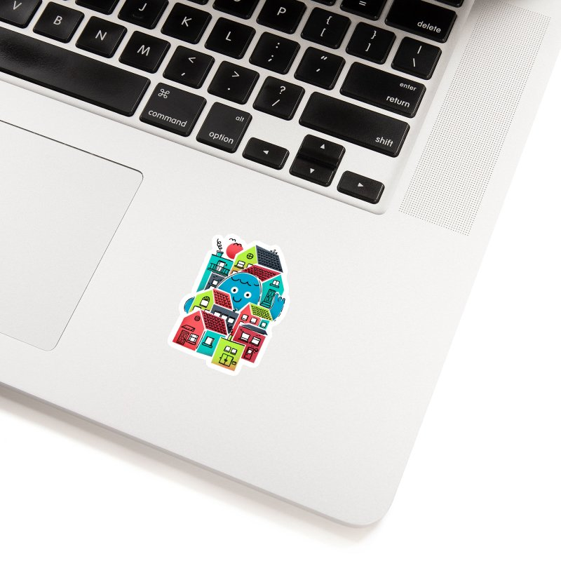 Hello Good Neighbour Accessories Sticker by Gintron