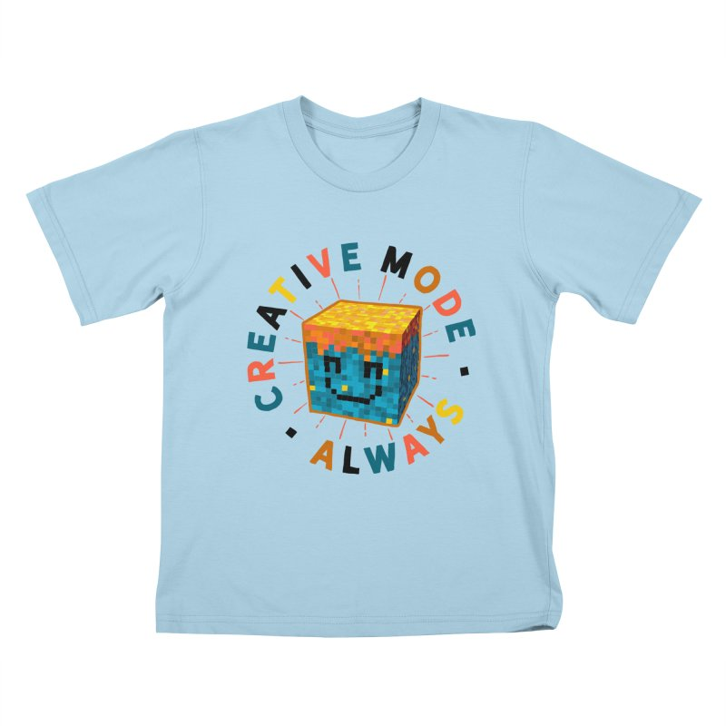 Liam's Creative Mode Kids T-Shirt by Gintron