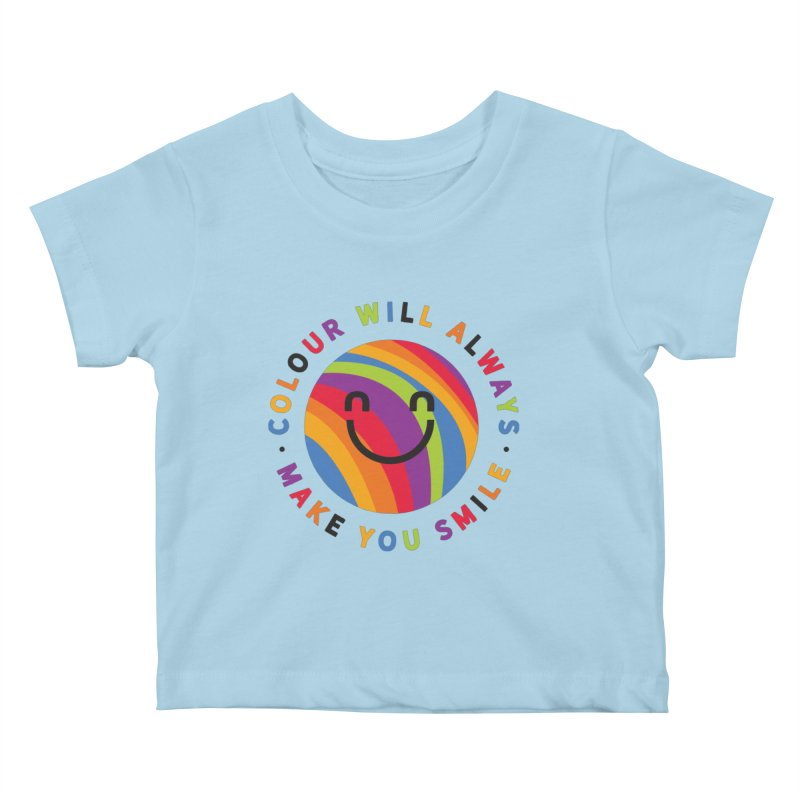 Ollie's Rainbow Kids Baby T-Shirt by Gintron