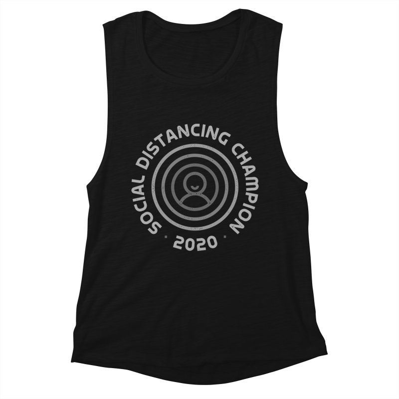 Social Distancing Champion 2020 Women's Tank by Gintron