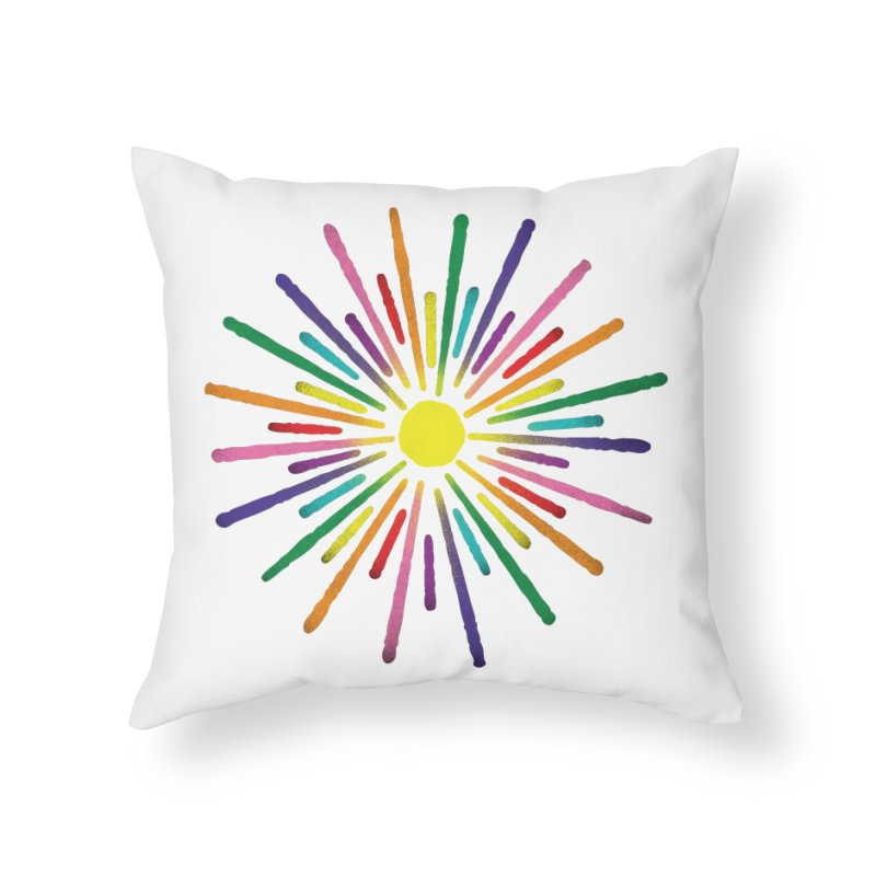 Equal Sunshine Home Throw Pillow by Gintron