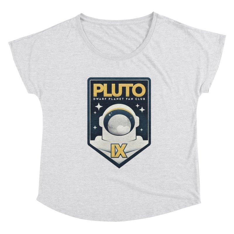 Pluto Fan Club Women's Scoop Neck by Gintron